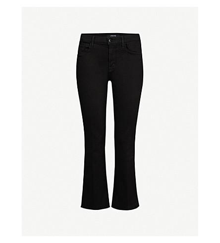 J BRAND Selena bootcut cropped mid-rise jeans (Black