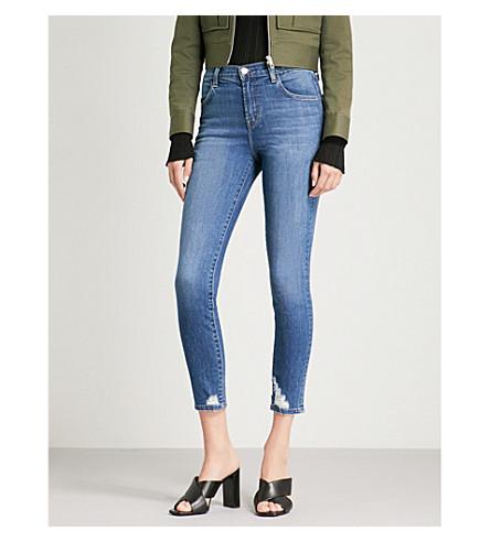 J BRAND Alana skinny high-rise jeans (Gossamer+destruct