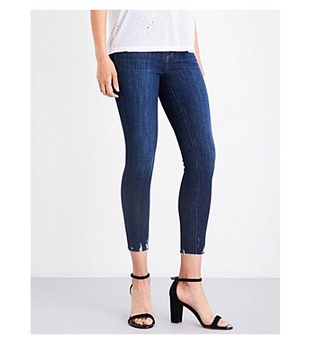 J BRAND Alana distressed skinny high-rise jeans (Dark+fantasy