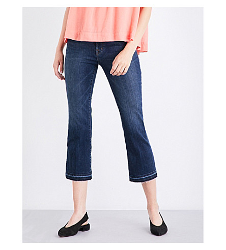 J BRAND Selena released-hem cropped mid-rise jeans (Mesmeric