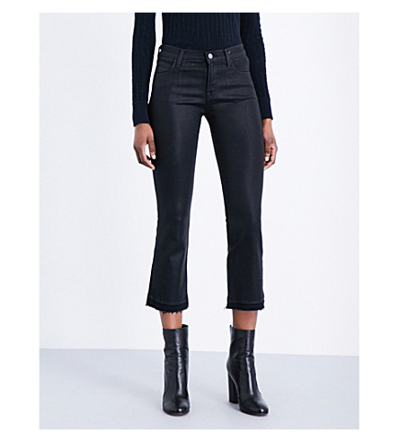J BRAND Selena cropped mid-rise jeans (Fearless