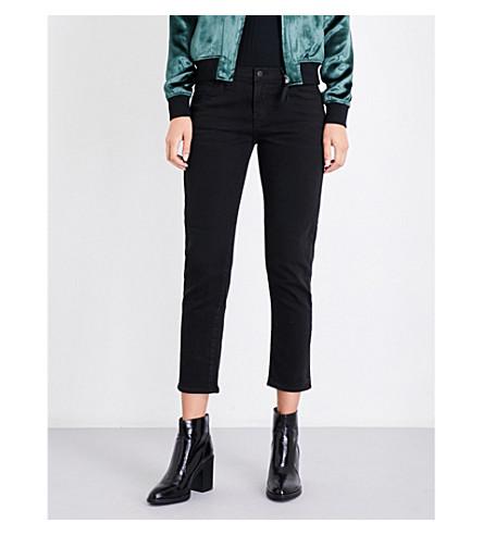 J BRAND Sadey slim-fit straight mid-rise jeans (Temptress