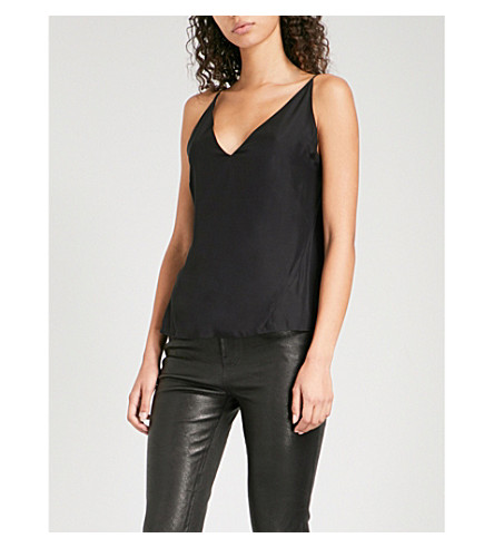 J BRAND Lucy silk camisole (Black