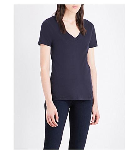 J BRAND FASHION Skinny Boy cotton-jersey T-shirt (Dark+navy