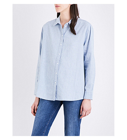 J BRAND FASHION Pacific cotton and linen-blend shirt (Brilliant