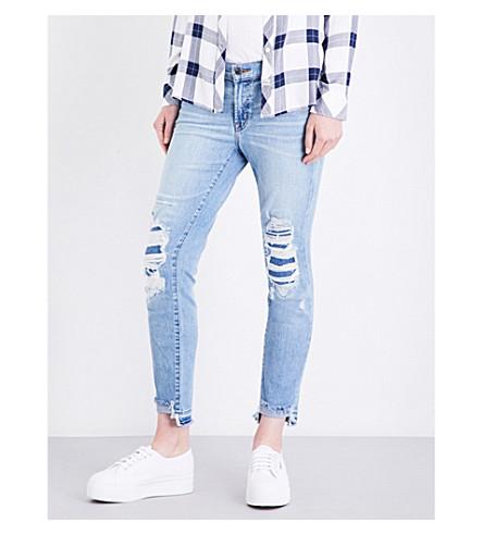 J BRAND Sadey skinny mid-rise jeans (Diversion+destruct
