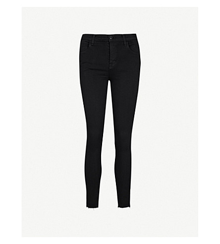 J BRAND Alana skinny cropped high-rise jeans (Black