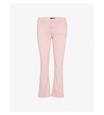 J BRAND Selena bootcut cropped mid-rise jeans (Vinca