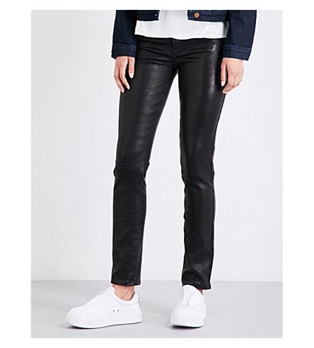 J BRAND Maude skinny leather trousers (Black