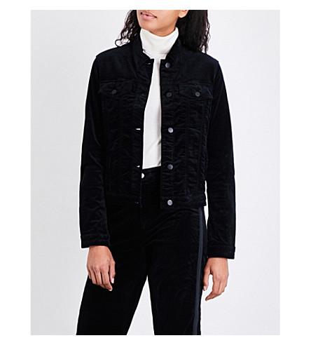 J BRAND FASHION Faye velvet jacket (Black