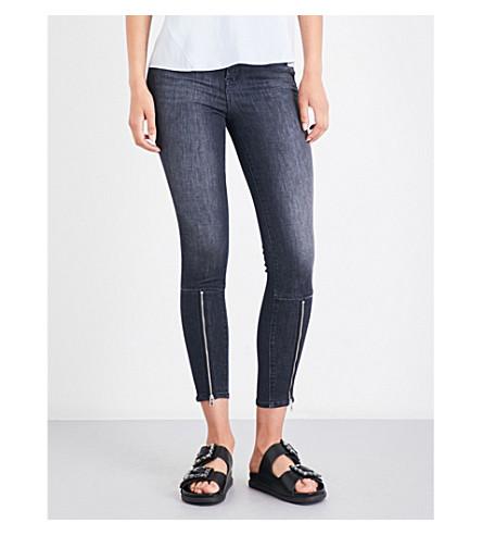 J BRAND Alana skinny cropped high-rise jeans (Black+heath