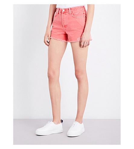 J BRAND Gracie regular-fit high-rise denim shorts (Glowing+bossom