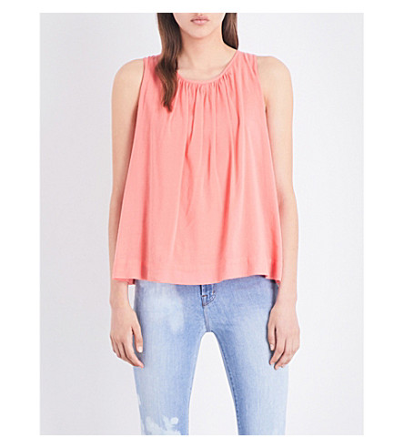 J BRAND FASHION Isla cotton-blend top (Glowing