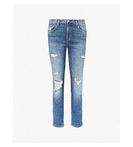 J BRAND Johnny boyfriend-fit straight mid-rise jeans (Angeles