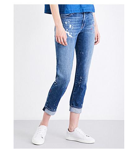 J BRAND Johnny boyfriend mid-rise jeans (Peace