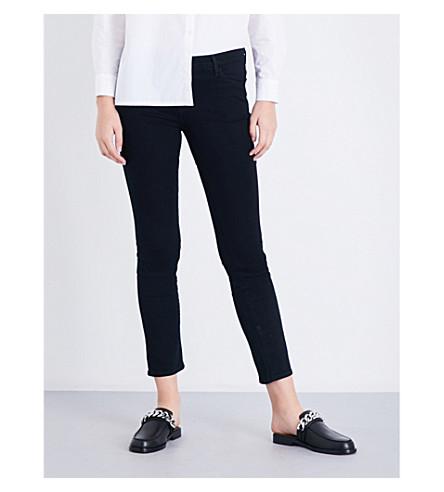 J BRAND Maude cigarette mid-rise jeans (Shadow+black