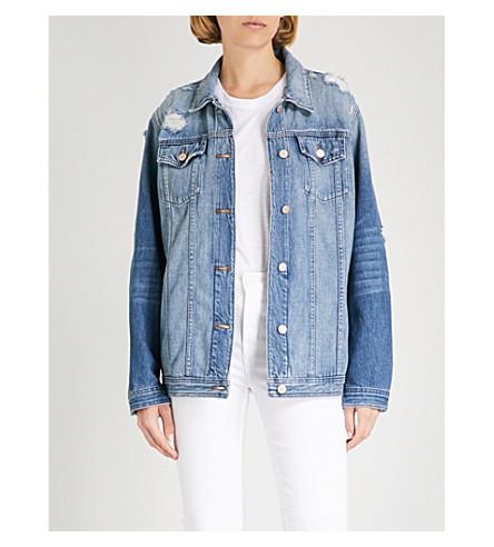J BRAND Cyra oversized denim jacket (Broken+heart