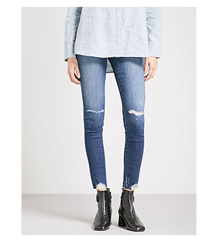 J BRAND Maria distressed skinny high-rise jeans (Revoke+destruct