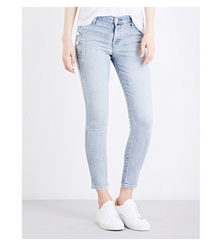 J BRAND Zion skinny mid-rise jeans (Clean+remnant
