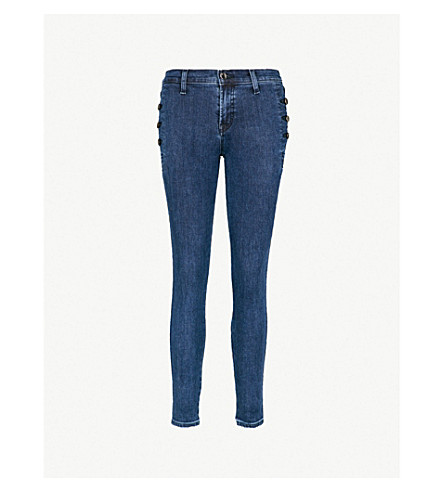 J BRAND Zion skinny mid-rise jeans (Static