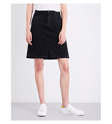 J BRAND FASHION Carolina super high-rise distressed denim skirt (Double+cross