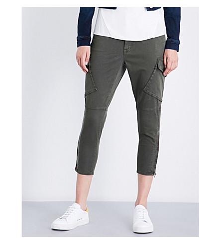 J BRAND FASHION Margho skinny mid-rise utility pants (Dark+malachite