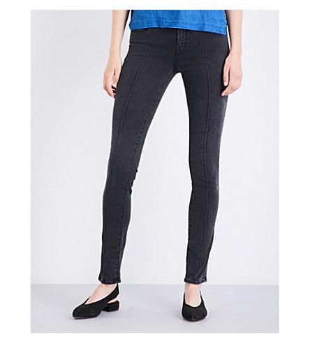 J BRAND 811 pintuck skinny mid-rise jeans (Santify