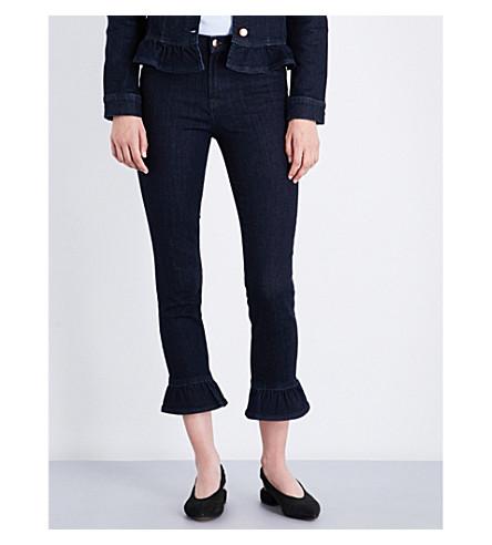 J BRAND Maude frill-detail skinny high-rise jeans (Flourish