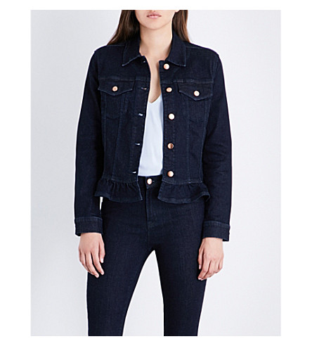 J BRAND FASHION Slim flared-hem denim jacket (Flourish