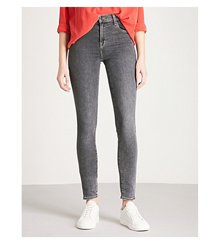 J BRAND Maria high-rise skinny jeans (Obscura