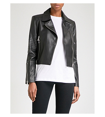 J BRAND FASHION Aiah leather jacket (Black