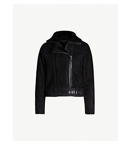 J BRAND FASHION Camilla shearling suede jacket (Black