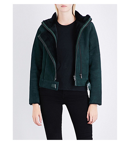 J BRAND FASHION Camilla shearling suede jacket (Moorland