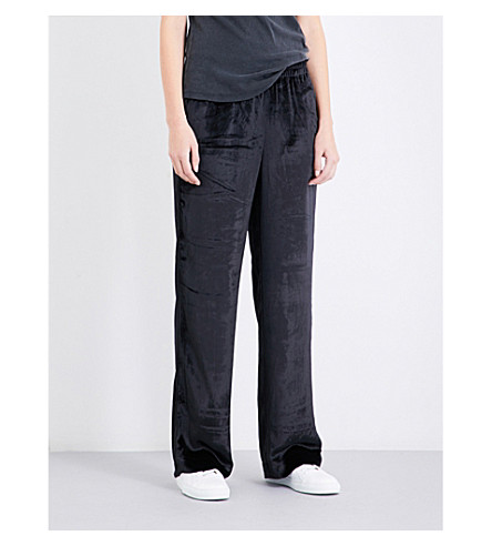 J BRAND FASHION Ardon high-rise skinny velvet trousers (Black