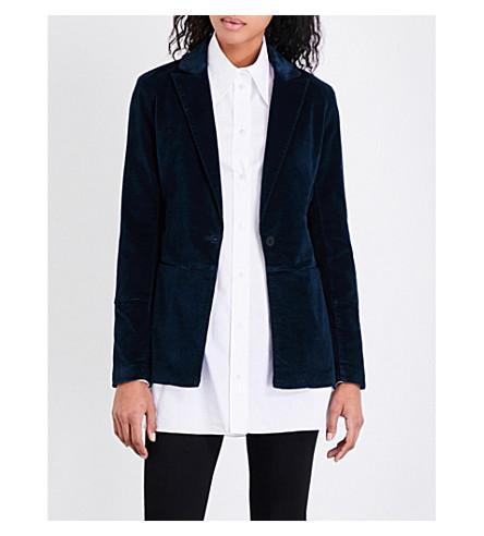 J BRAND FASHION Denise tailored-fit velvet blazer (Dark+iris