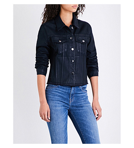 J BRAND FASHION Slim frayed-hem denim jacket (Delirious+faith