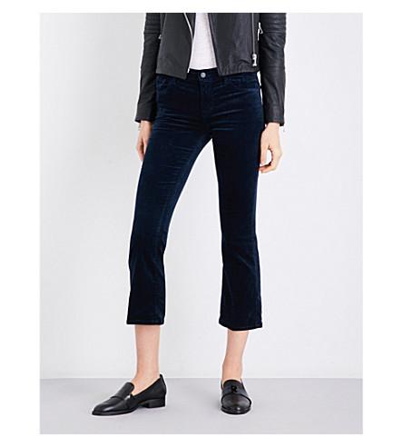 J BRAND Selena bootcut mid-rise velvet jeans (Dark+iris