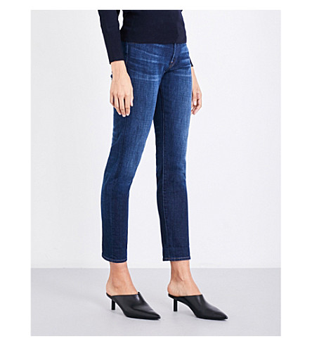 J BRAND Johnny boyfriend-fit straight mid-rise jeans (Cult