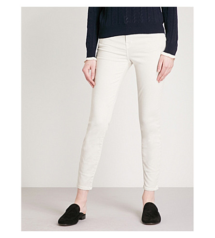J BRAND Alana coated skinny high-rise jeans (Honesty