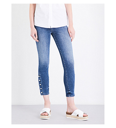 J BRAND Alana button-detail skinny high-rise jeans (Dreamer