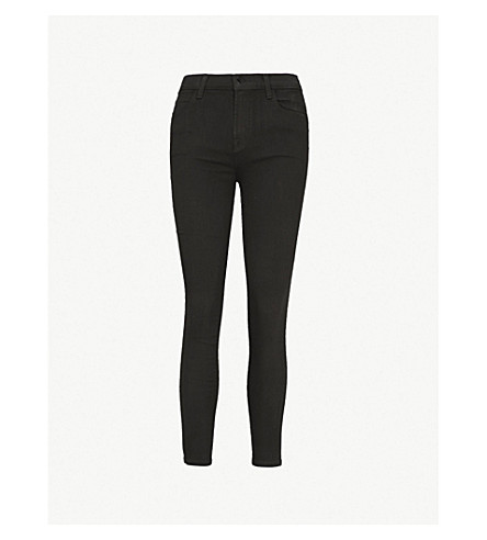 J BRAND Alana skinny high-rise jeans (Seriously black