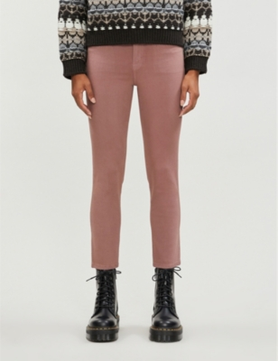 Ruby cropped stretch-cotton-blend trousers