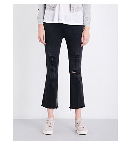 J BRAND Selena skinny-bootcut mid-rise cropped jeans (Tease
