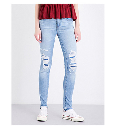J BRAND Maria skinny high-rise jeans (Diversion+destruct