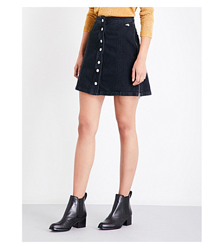 J BRAND X BELLA FREUD Nashville stretch-denim mini skirt (Overthrow