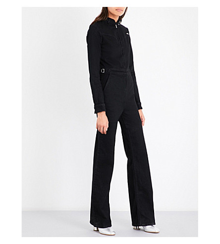 J BRAND X BELLA FREUD Angel stretch-denim jumpsuit (Hypnotize+black