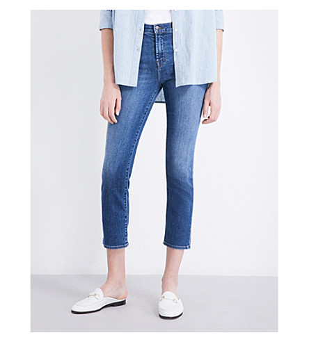 J BRAND Ruby straight cropped high-rise jeans (Virtuosity