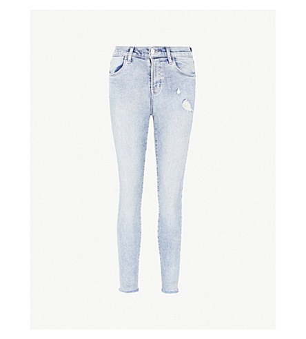 J BRAND Alana ripped skinny mid-rise jeans (Amateur