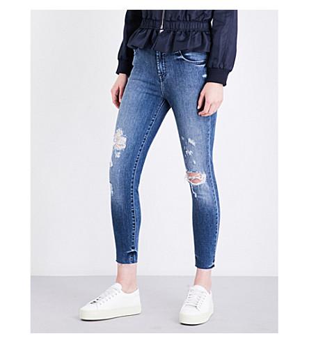 J BRAND Alana distressed skinny mid-rise jeans (Dreamer