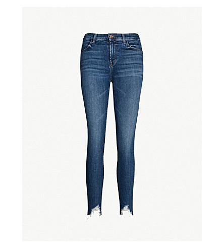 J BRAND Alana ripped skinny mid-rise jeans (Tide
